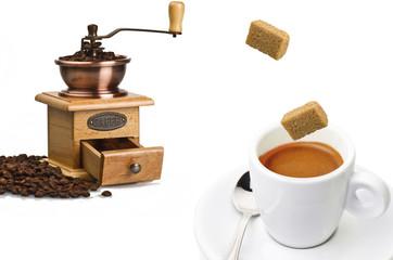 Vintage hand coffee grinder