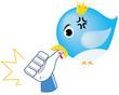 Social network parody - Bird bite Like (with emoticon)