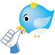 Social network parody - Bird bite Like