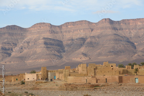 Moroccan village in the alto atlas