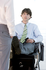Businessman interviewing