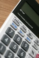 Tischrechner mit Speicher zur Ermittlung der Umsatzsteuer