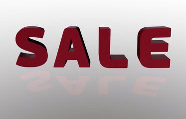 Sale 3d text