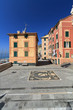 Liguria - small square in Sori, Italy