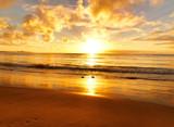 Fototapety beautiful sunset on the  beach