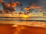 beautiful sunset on the Australian beach - Fine Art prints