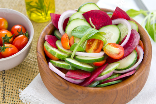 Cucumber and Beetroot salad