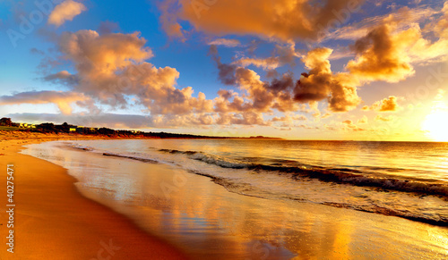Foto op Canvas Australië beautiful sunset on the beach