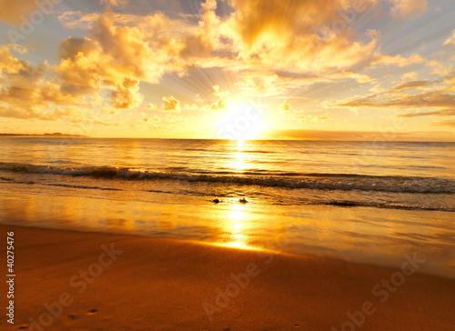 Aluminium Australië beautiful sunset on the beach