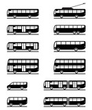 Buses and coaches - vector illustration poster