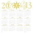French calendar for 2013