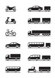 Fototapety Road vehicles icons - vector illustration