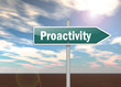 "Signpost ""Proactivity"""