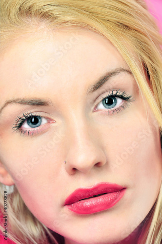 portrait of beautiful blonde young woman