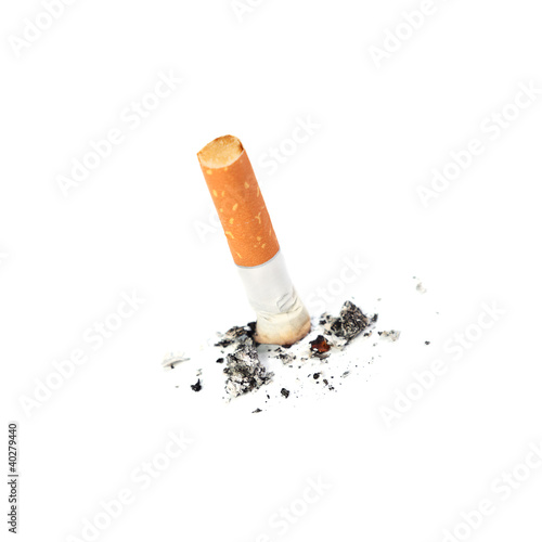 Extinguished cigarette