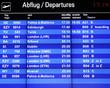 flughafen information tafel