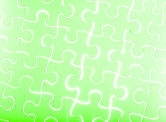 Puzzle in green