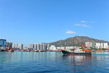 Fishing boat in Hong Kong, Tuen Mun