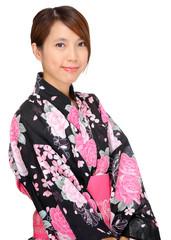 woman in kimono, Japan cloth
