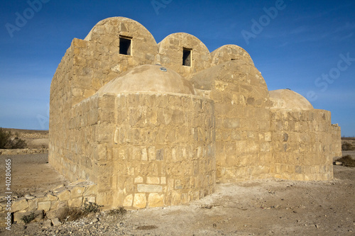 Amra Castle - bathhouse - Desert Castle in Jordan