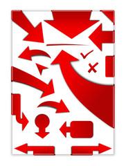 Pfeil Set, rot, Markierung