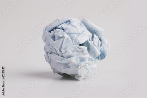 Tightly crumpled piece of paper