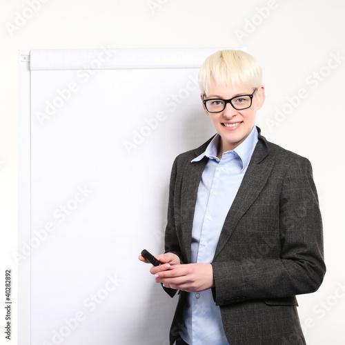businessfrau mit flipchart
