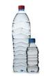 Drinking Water in bottles on white
