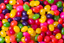 Assortment of Jelly Beans for background
