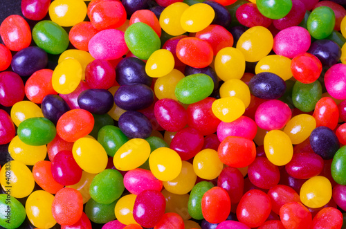 Fridge magnet Assortment of Jelly Beans for background