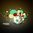 Abstract football art floral colorful illustration