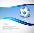 Vector illustration is a Abstract football colorful wave