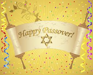 Holiday background of jewish passover.