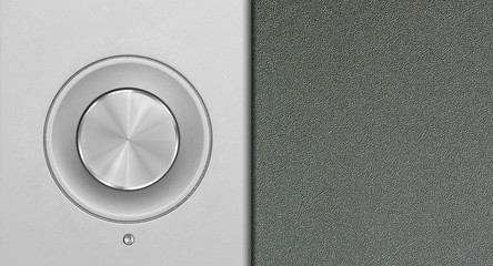 aluminum or silver volume knob button