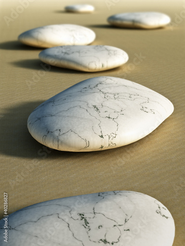 stones in the sand © magann