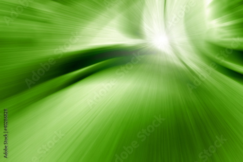 abstract zoom green