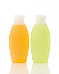 two plastic bottles