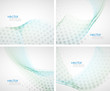 Abstract waves background set