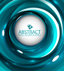 Abstract blue glossy swirl background