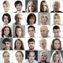 Ernste Gesichter