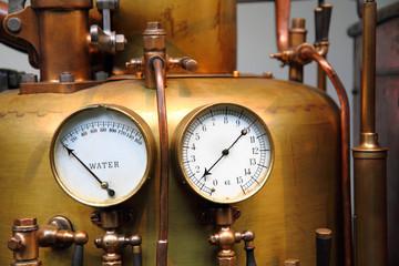 detail of old steam machine