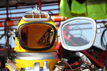 modern diver helmet