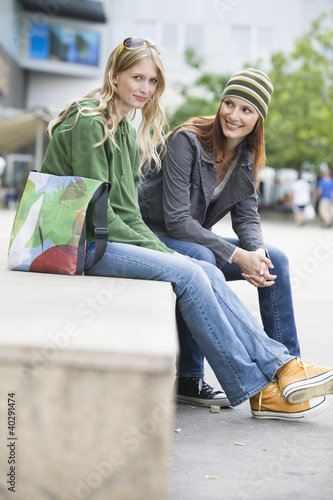 Young women smiling