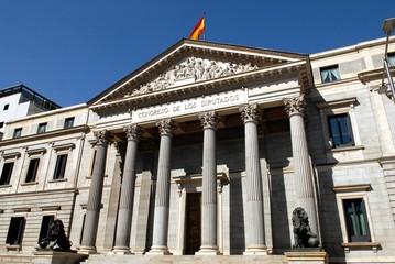 Le Congrès des députés à Madrid