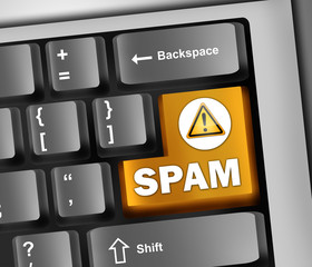 "Keyboard Illustration ""Spam"""