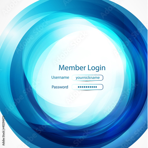 Blue swirl login page