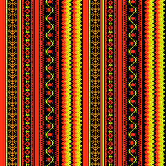 Bright textile ornamental seamless pattern