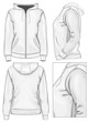 Women's hooded sweatshirt with zipper