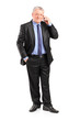 Full length portrait of a mature businessman talking on a phone