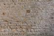 gelbe Sandsteinmauer